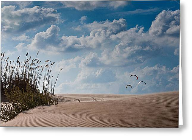 Kiteboarding Greeting Cards - Wind 3 Greeting Card by Gilad Koriski