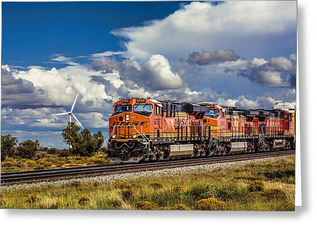 Desert Greeting Cards - Wind and Rail Greeting Card by Fred Larson