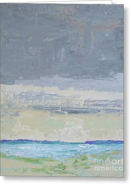 Titanium White Greeting Cards - Wind and Rain on the Bay Greeting Card by Gail Kent