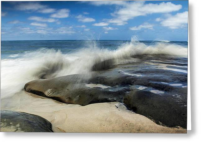 Midday.light Greeting Cards - Wind and Sea Beach Greeting Card by Paul Crown