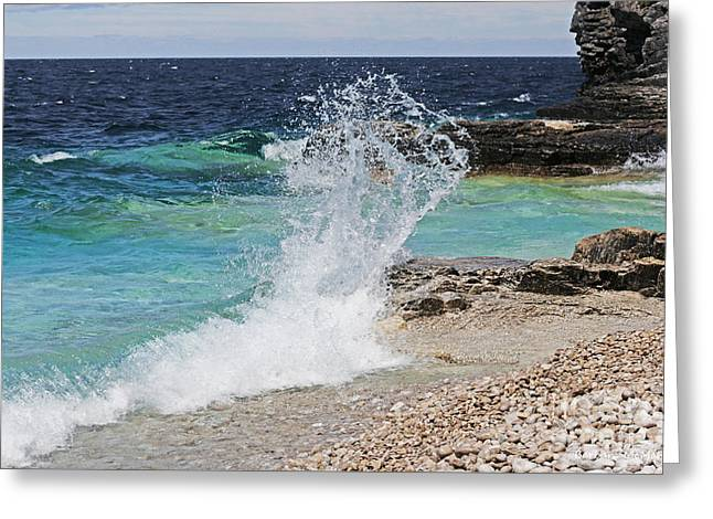 Barbara Mcmahon Greeting Cards - Wind and Waves Greeting Card by Barbara McMahon