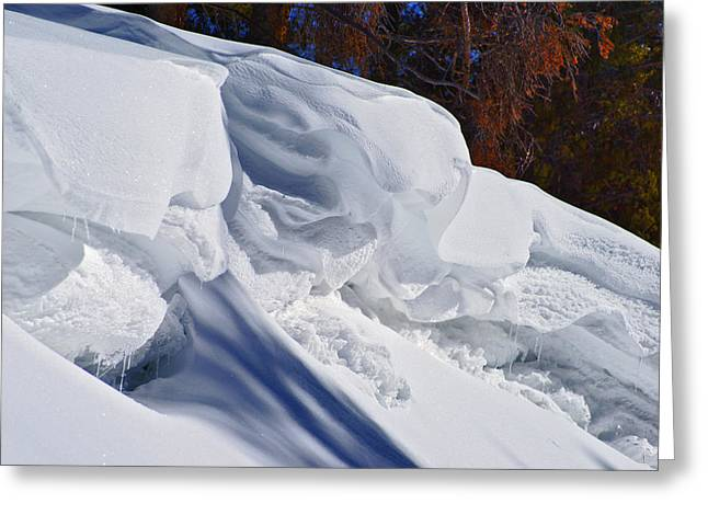 Snow Cornice Greeting Cards - Wind Art 2 Greeting Card by Jeremy Rhoades