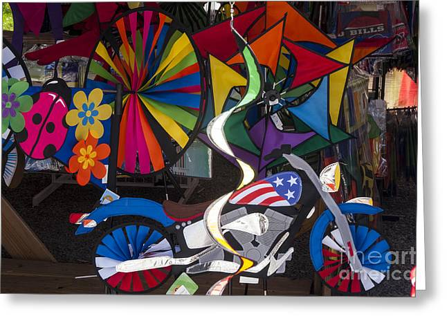 Toy Shop Greeting Cards - Wind Art Greeting Card by Bob Phillips