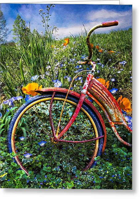 Wind At Your Back Greeting Card by Debra and Dave Vanderlaan
