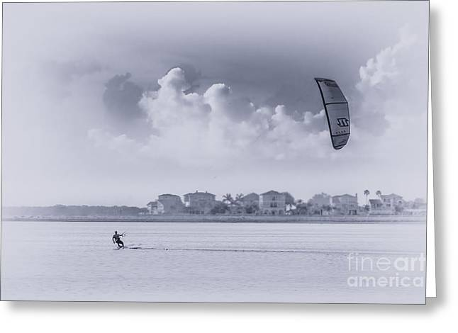 Kite Surfing Greeting Cards - Wind Beneath My Wing Greeting Card by Marvin Spates