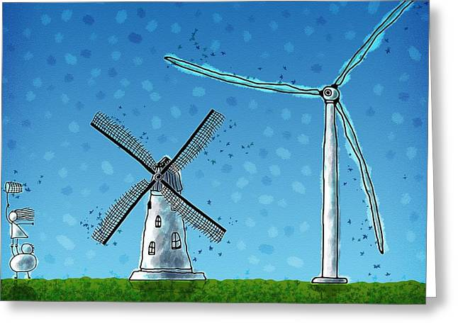 Wind Blows Greeting Card by Gianfranco Weiss