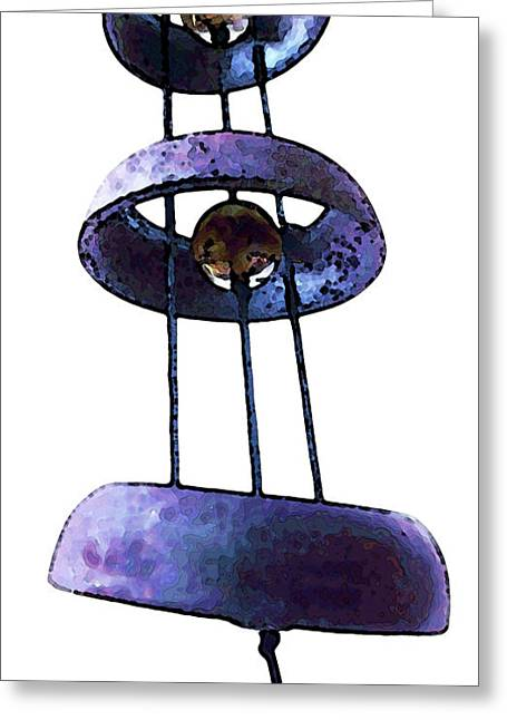 Wind Chimes Greeting Cards - Wind Chime 8 Greeting Card by Sharon Cummings