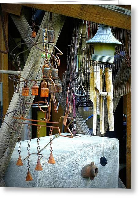 Wind Chimes Greeting Cards - Wind Chimes Greeting Card by Lori Seaman