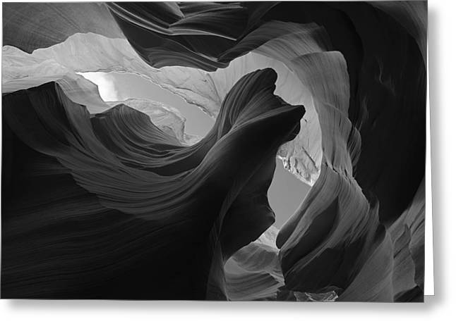 Lower Antelope Canyon Greeting Cards - Wind Dancer Greeting Card by Dustin  LeFevre