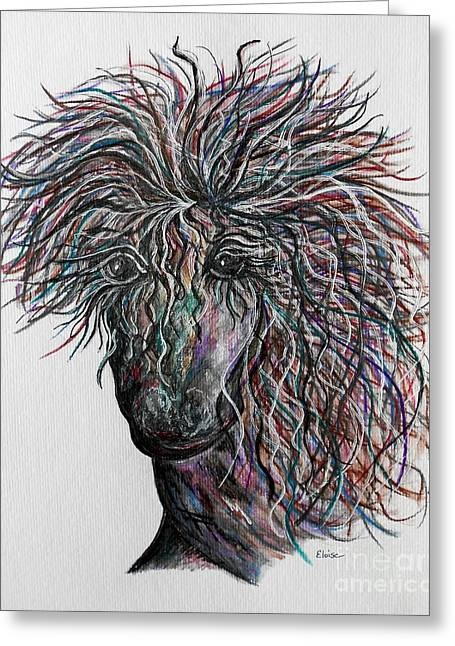 Galloping Greeting Cards - Wind Greeting Card by Eloise Schneider