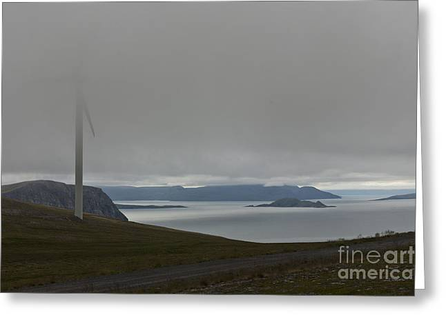Power Plants Greeting Cards - Wind Energy Greeting Card by Heiko Koehrer-Wagner
