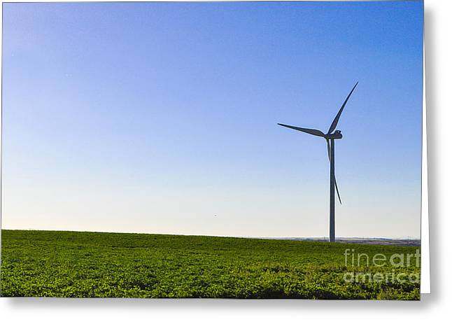 Generators Greeting Cards - Wind Energy Greeting Card by Kimberly Makay