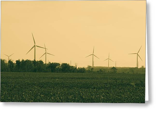 Environment-friendly Greeting Cards - Wind Farm Greeting Card by James Wheeler