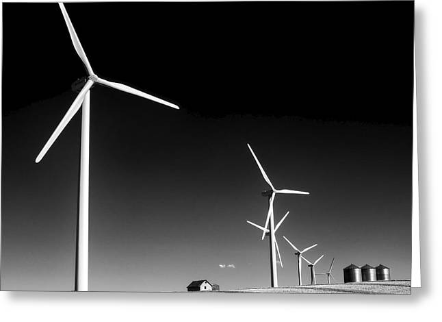 Harvest Time Greeting Cards - Wind Farm Greeting Card by Trever Miller