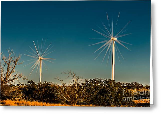Generators Greeting Cards - Wind Generators Greeting Card by Bob Marquis