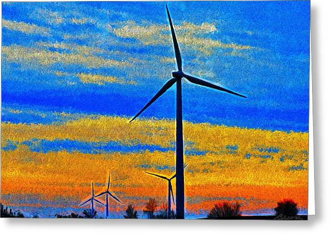 Wind  Generators Greeting Card by Bruce Nutting