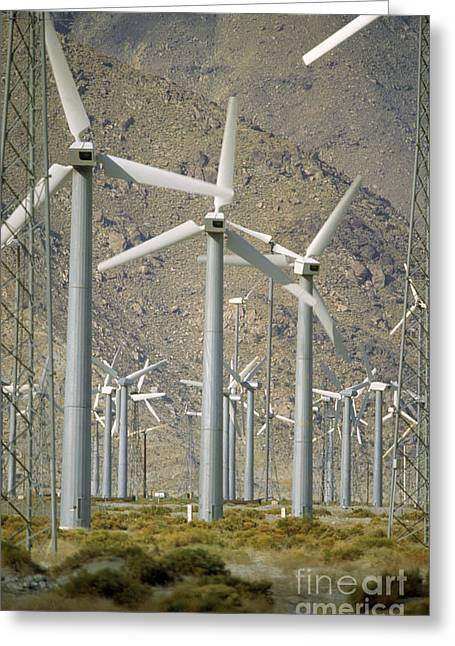 Generators Greeting Cards - Wind Generators Greeting Card by Larry Mulvehill