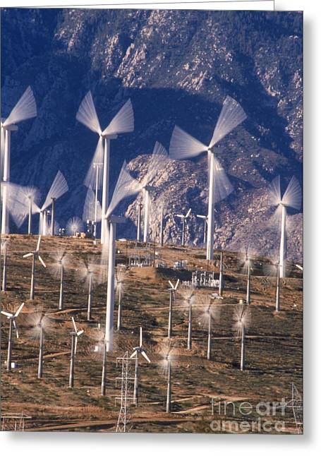 Californian Greeting Cards - Wind Generators Greeting Card by Mark Newman