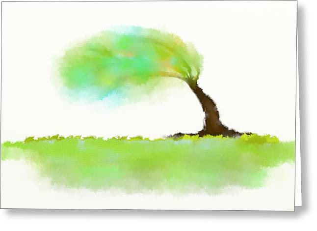 Will Power Mixed Media Greeting Cards - Wind Greeting Card by Len YewHeng