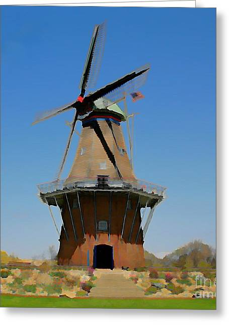 Wind Mill  Greeting Card by Robert Pearson