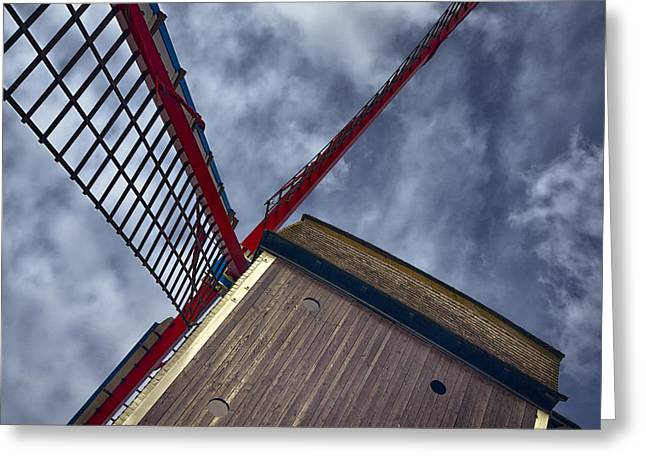Wooden Building Greeting Cards - Wind Power Greeting Card by Joan Carroll