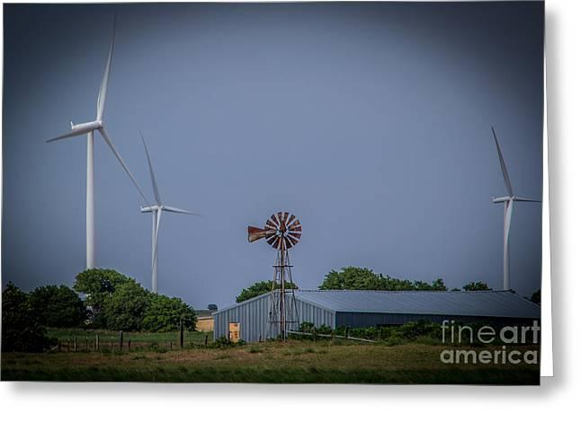 Generators Greeting Cards - Wind Power x 2 Greeting Card by Jim McCain