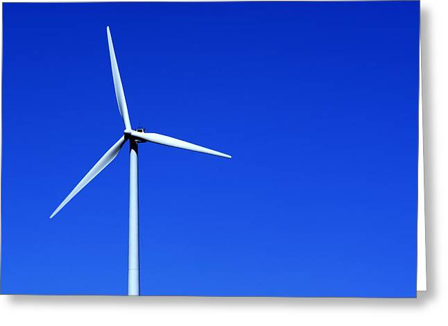Rotate Greeting Cards - Wind Powered Electric Turbine Greeting Card by Donald  Erickson