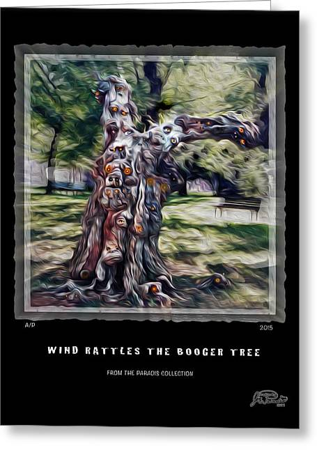 Goul Greeting Cards - Wind Rattles The Booger Tree Greeting Card by Joe Paradis