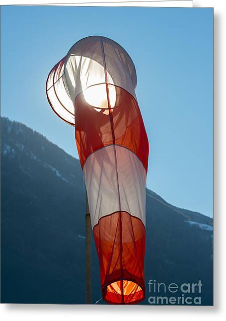 Traffic Control Greeting Cards - Wind Sock Greeting Card by Mats Silvan