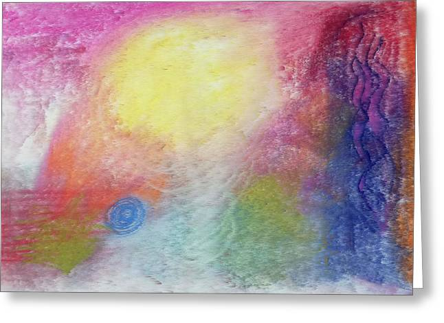 Summer Storm Drawings Greeting Cards - Wind Storm Greeting Card by Anne Cameron Cutri