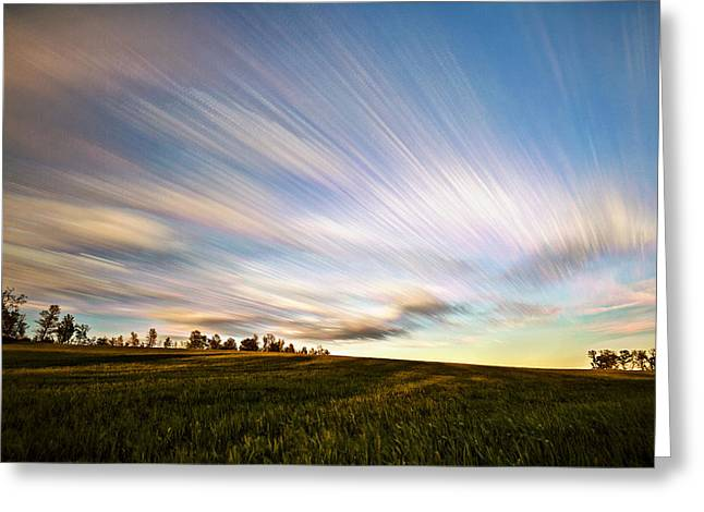 Wind Stream Streaks Greeting Card by Matt Molloy