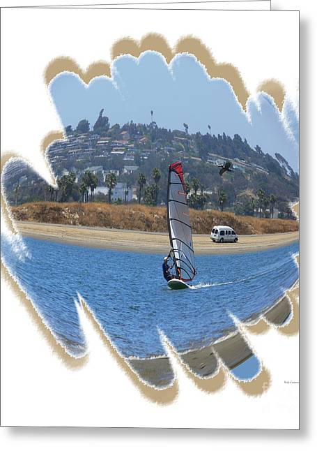 Wind Surfing Art Print Greeting Cards - Wind Surfing San Diego 2 Greeting Card by Scott Cameron