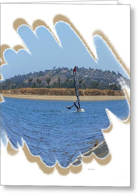 Wind Surfing Art Print Greeting Cards - Wind Surfing San Diego 3 Greeting Card by Scott Cameron