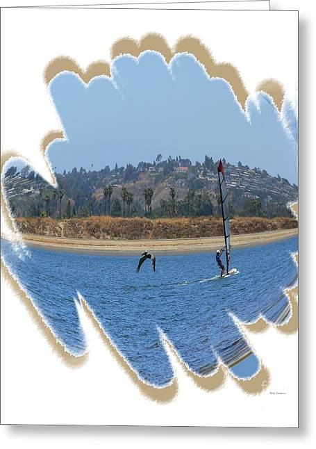 Wind Surfing Art Print Greeting Cards - Wind Surfing San Diego 4 Greeting Card by Scott Cameron