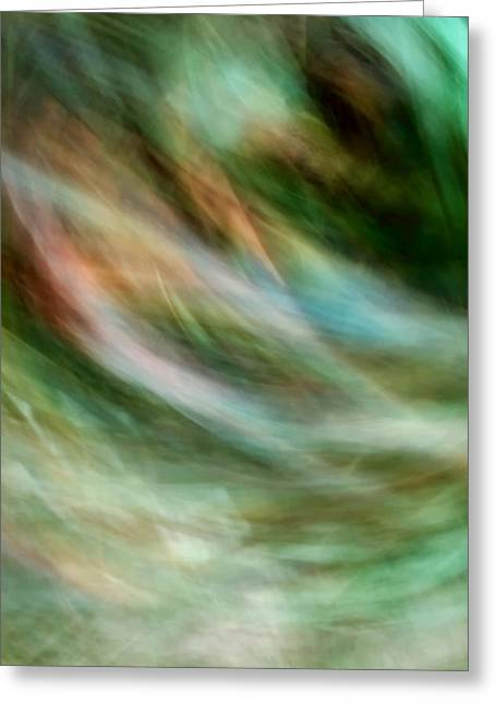 Wind Through Grass Greeting Card by Mah FineArt