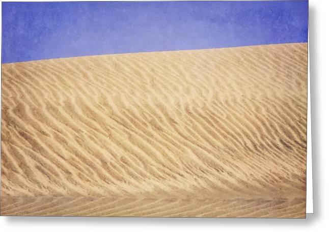Wind Traces on Sand II Greeting Card by Maya Danielewska