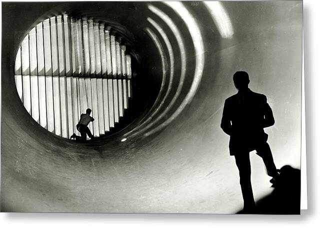 Space Race Greeting Cards - Wind Tunnel Greeting Card by Benjamin Yeager
