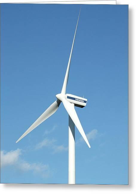 Wind Turbine Greeting Card by Alex Bartel