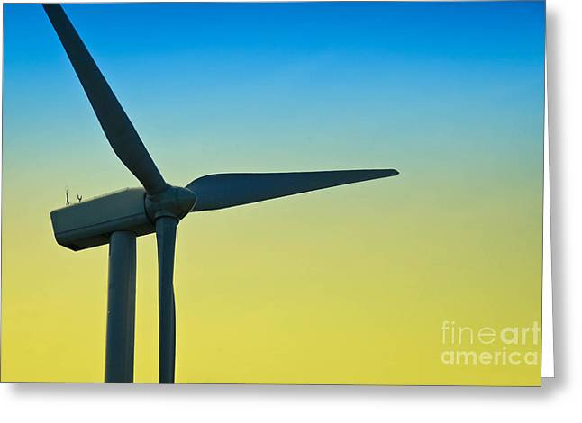 Power Greeting Cards - Wind Turbine Greeting Card by Amy Cicconi
