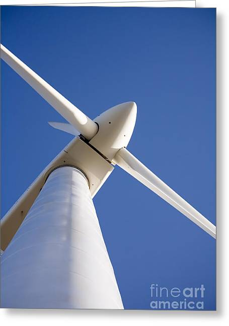 Tilted Greeting Cards - Wind Turbine Esperance Western Australia Greeting Card by Colin and Linda McKie