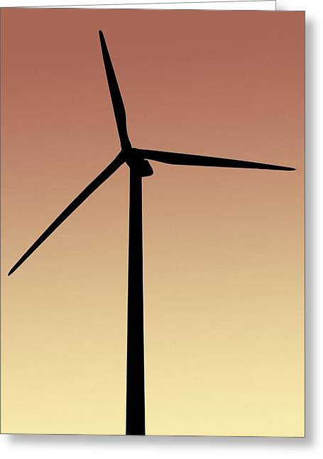 21st Greeting Cards - Wind turbine Greeting Card by Science Photo Library