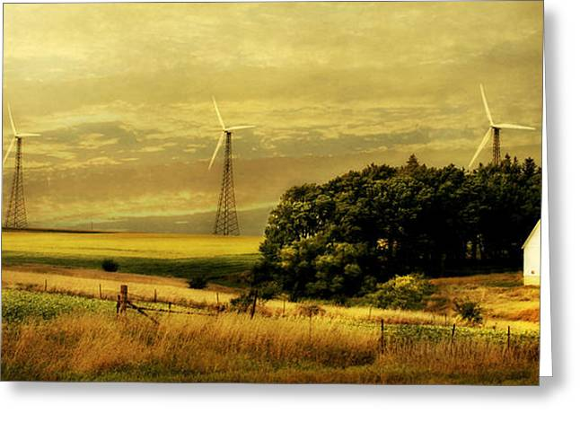 Country Cottage Greeting Cards - Wind Turbines Greeting Card by Julie Hamilton