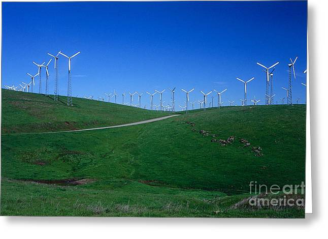 Livermore Greeting Cards - Wind Turbines, Livermore, California Greeting Card by Peter Anderson / Dorling Kindersley