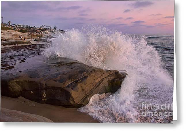 Windansea Beach 2 Greeting Card by Eddie Yerkish