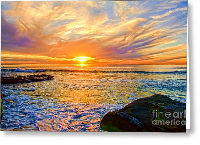 California Ocean Photography Greeting Cards - Windansea Color 2 Greeting Card by Baywest Imaging