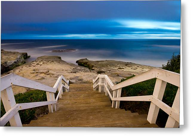 Recently Sold -  - California Beaches Greeting Cards - Windansea Stairs Greeting Card by Lee Bertrand