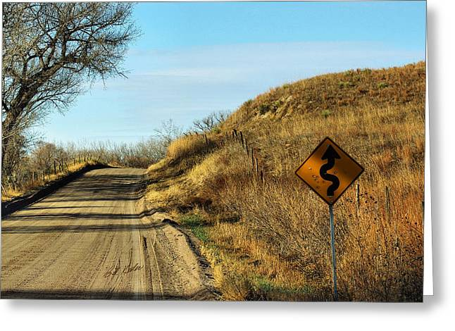 Bill Kesler Greeting Cards - Winding Country Road Greeting Card by Bill Kesler