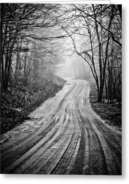 Back Country Greeting Cards - Winding Dirt Road Greeting Card by Karol  Livote