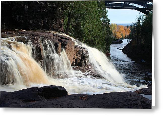Peterson Nature Photography Greeting Cards - Winding Falls Greeting Card by James Peterson