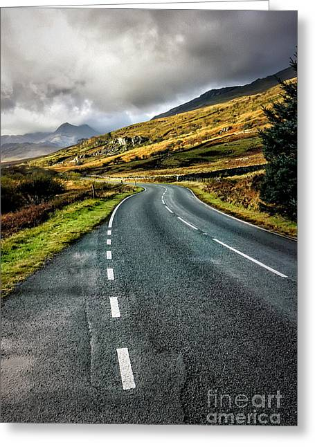 Highway Greeting Cards - Winding Road Greeting Card by Adrian Evans